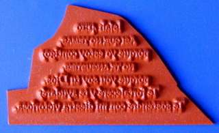 ISAIAH 4110 in SPANISH bible verse UM rubber stamp #11