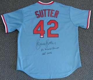 Autographed St. Louis Cardinals Jersey 82 World Champs, HOF 06 PSA/DNA