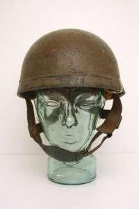 Original WWII British Airborne Paratrooper Helmet HSAT BMB 1942 Fibre