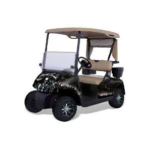 Fits Ezgo Golf Cart Graphic Kit (1996 2010) Reaper  Black Automotive