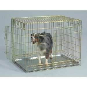 General Cage Two Door Gold Wire Dog Crate