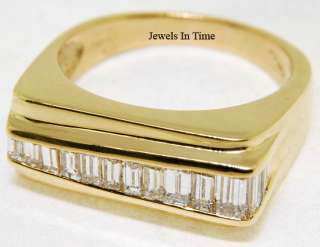 Mens Ring 18k Yellow Gold & Diamond Asymmetric