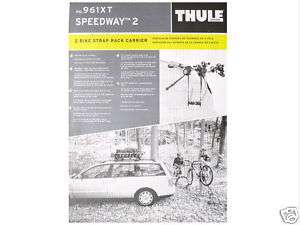 Thule 961XT Speedway Trunk Rack 2 Bike Bicycle Carrier