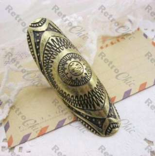 BIG full finger KNUCKLE joint ARMOUR RING vintage brass PUNK/URBAN
