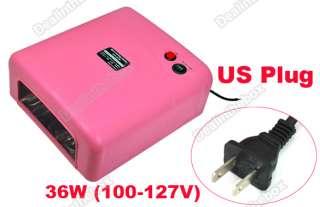 36W UV Gel Nail Art Dryer Curing Lamp Light Bulb 110V R