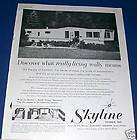 1959 Buddy Colony Park Mobile Home RV Trailer Photo AD