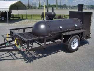 RIB BOX BBQ SMOKER PIT grill on trailer w gas starter