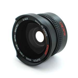 Fish Eye FishEye Lens 37mm 0.42x for Samsung Camcorder