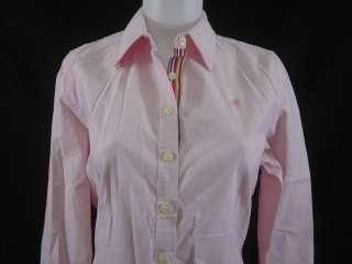 LILLY PULITZER Pink Button Down Shirt Sz 8