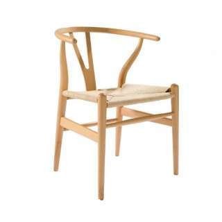 Mid Century Modern Hans Wegner Wishbone Chair Replica Natural, Dark