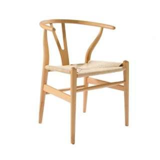 Mid Century Modern Hans Wegner Wishbone Chair Replica Natural, Dark