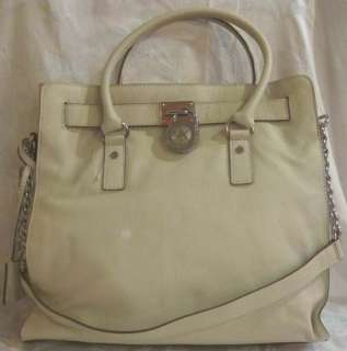 MICHAEL KORS HAMILTON NORTH SOUTH TOTE VANILLA HANDBAG 884485410123