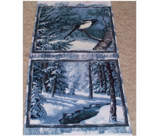 Winter Whispers Bird Tree Block/Quilt Panel Fabric Wilmington Prints