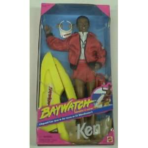 Baywatch Barbie African American Ken Doll Mib Toys & Games