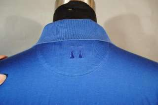 GREG NORMAN SHARK GOLF SPORTS BRIGHT BLUE POLO SHIRT L