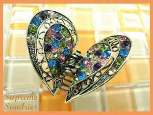 Colorful Crystal Wings Alligator Jaw Hair Clip Claw 709