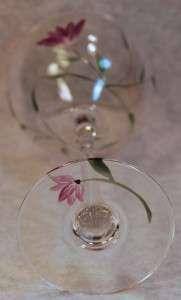 LENOX CRYSTAL FLORAL SPIRIT BALLOON WINE GLASS GOBLET P