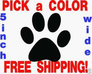 inch Dog Paw Print Vinyl Window Decal Sticker CHEAP