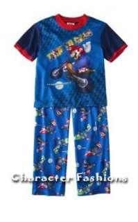 SUPER MARIO KART Wii Pajamas pjs S/S Shirt Pants Size 4 5 6 7 8 10 12