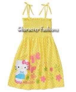 HELLO KITTY SUN DRESS Size 4 5 6 6X 7 8 10 12 14 16 Outfit Shirt Skirt