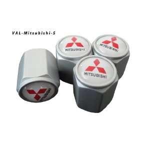 AGT Aluminum Silver Valve Caps Tire Cap Stem for Mitsubishi Wheels