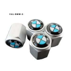 AGT Aluminum Silver Valve Caps Tire Cap Stem for BMW Wheels (Pack of 4