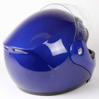 BLUE MODULAR FLIP UP MOTORCYCLE HELMET DOT Size S, M, L, XL