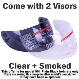 MODULAR FLIP UP GLOSS BLACK MOTORCYCLE HELMET DOT Size S, M, L, XL
