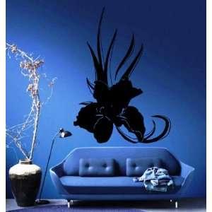 Iris Flower Decorative Design Wall Mural Vinyl Decal