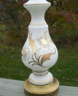 brisol glass hollywood regency syle wih open wild rose clarine