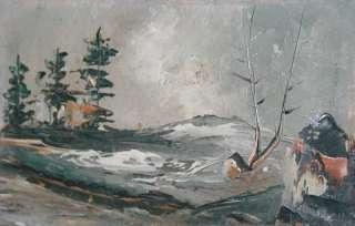 Russian art antique oil painting landscape