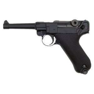 Version Gas Blowback Full Metal   Black Airsoft Luger Pistol bb Gun