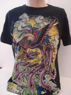 Ed Hardy By Christian Audigier Mens Black T Shirt Size Large L Short