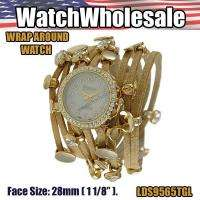 WHOLESALE FREE MOVING CHARM WRAP AROUND WATCH   LDA9565TGL  USA SELLER