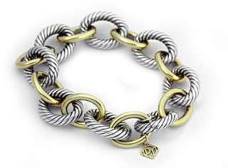 David Yurman 18k Gold Sterling Silver 925 Rope Cable Bracelet 925