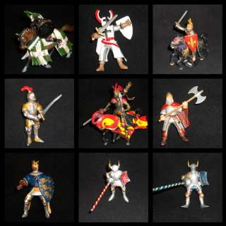 Large 17 Lot Medieval Knights & Horses Mixed   Papo Schleich