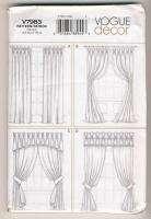 vogue 7983 Window Treatments pattern Drapes,Valances
