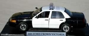 Motormax 1/18 Blank Black & White Ford Police Car