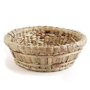 Water Hyacinth and Varnish Basket Round Weed Wacker