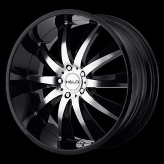 Helo 851 Black Machine 22x10 Chrysler Chevy Dodge Ford