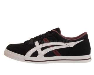 Asics Aaron CV Canvas ONYX White Black 2012 Mens Classic Casual Shoes