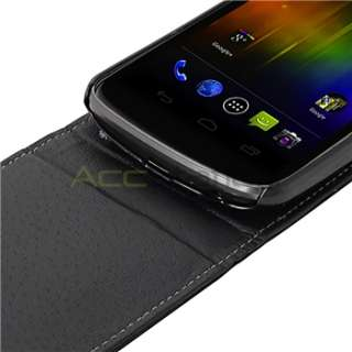 Flip Leather Case+Privacy LCD Guard+USB Cable For Samsung Galaxy Nexus