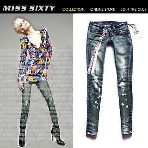 Stunning Crystal Button MISS SIXTY Ladys Cool Jeans