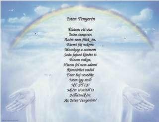 Hungarian Poem Isten Tenyeren Personalized Name Prayer