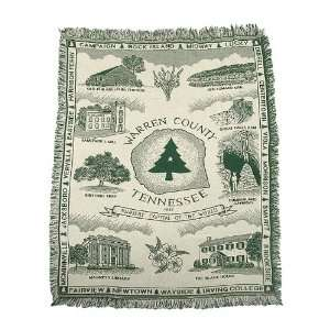 Historic Warren County Tennessee Nursery World Capital Afghan Throw