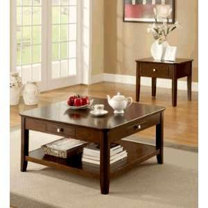 Contemporary Adam Brown Coffee End Table