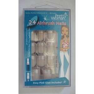 PRETTY WOMAN AIRBRUSH NAILS SALON #CPD551 WHITE DESIGN: Beauty
