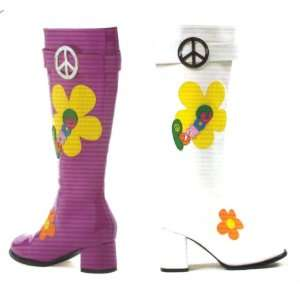 Flower Peace Gogo Boots