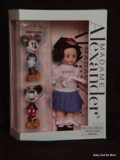 New Madame Alexander 8 Mouseketeer Wendy Mickey Minnie