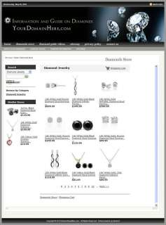 Established DIAMONDS, JEWELRY Website For Sale
